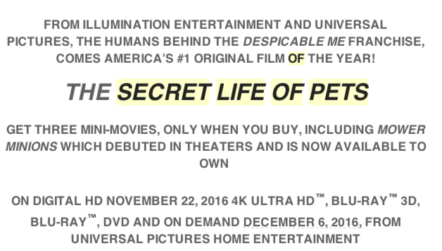 Screen Shot 2016 11 30 at 9.59.19 AM The Secret Life Of Pets Available on DVD December 6th!