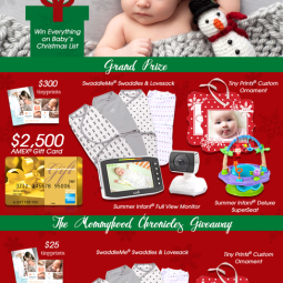 Baby's First Christmas + a $50 Target GC/SwaddleMe/Tiny Print Giveaway!