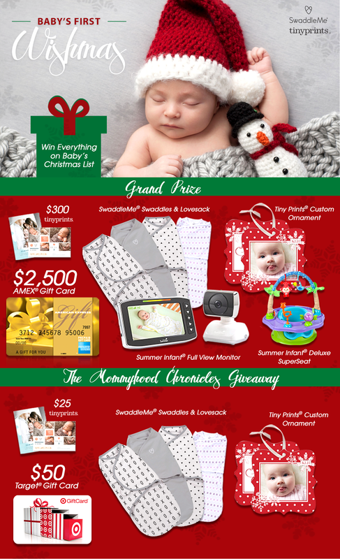 unspecified 1 Babys First Christmas + a $50 Target GC/SwaddleMe/Tiny Print Giveaway!