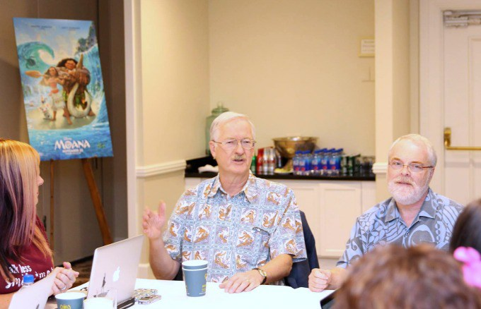 JOHN MUSKER RON CLEMENTS My Interview with directors Ron Clements & John Musker! #MoanaEvent
