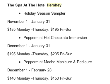 Screen Shot 2016 12 13 at 2.52.32 PM The Hotel Hershey is the Perfect Vacation Spot During The Christmas Season!
