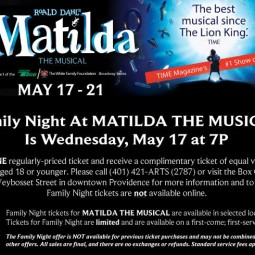 Matilda The Broadway Musical at the PPACRI and a 4 ticket giveaway!