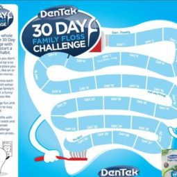 Participating in the 30 Day Floss Challenge! Dentist Approved!