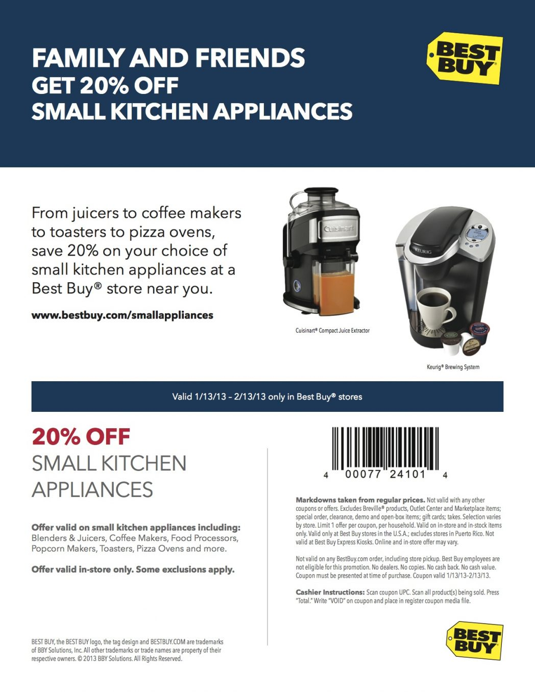 best buy 20 off small appliance coupon