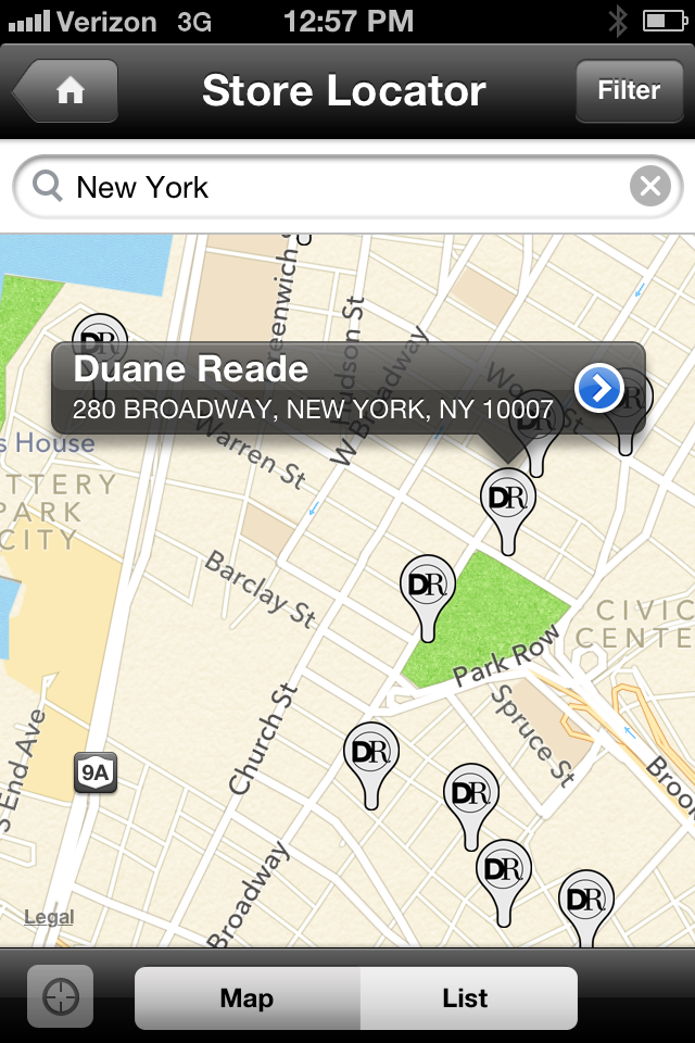 Duane Reade App!