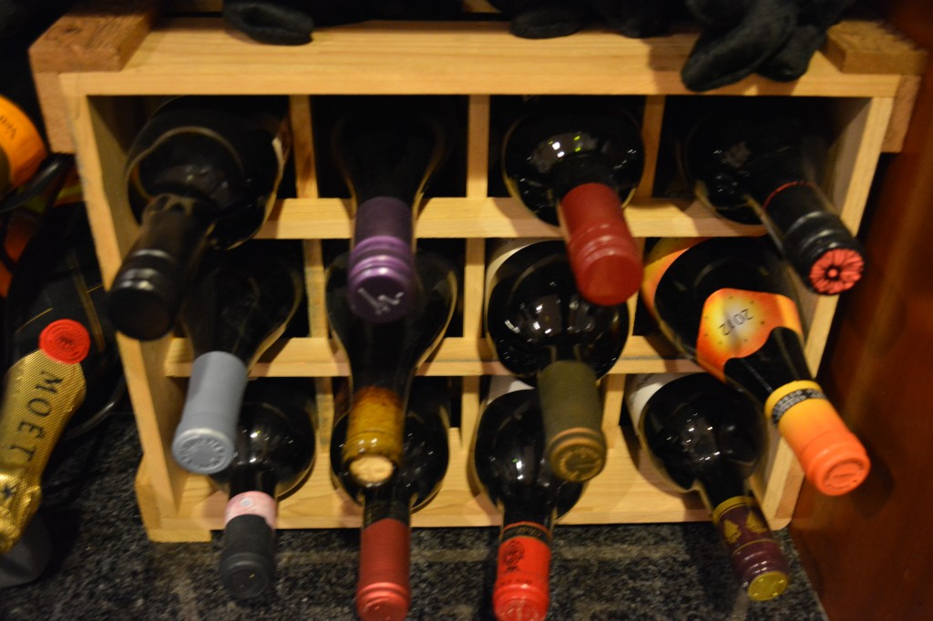 homemade wine rack