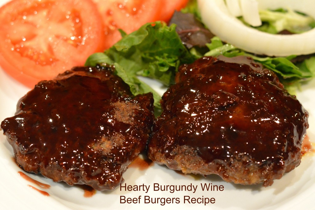 Hearty Burgundy Wine Beef Burgers Recipe