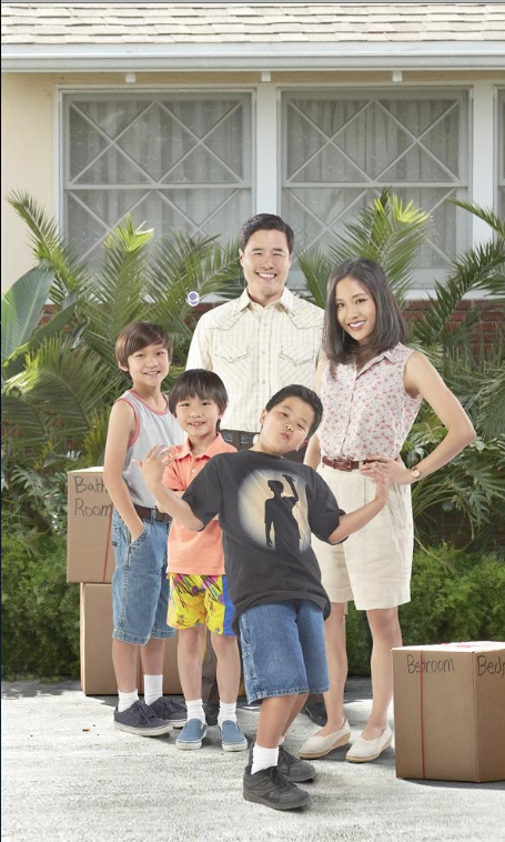 """Fresh Off the Boat"" stars Forrest Wheeler as Emery, Ian Chen as Evan, Randall Park as Louis, Hudson Yang as Eddie and Constance Wu as Jessica. (ABC/Kevin Foley)"