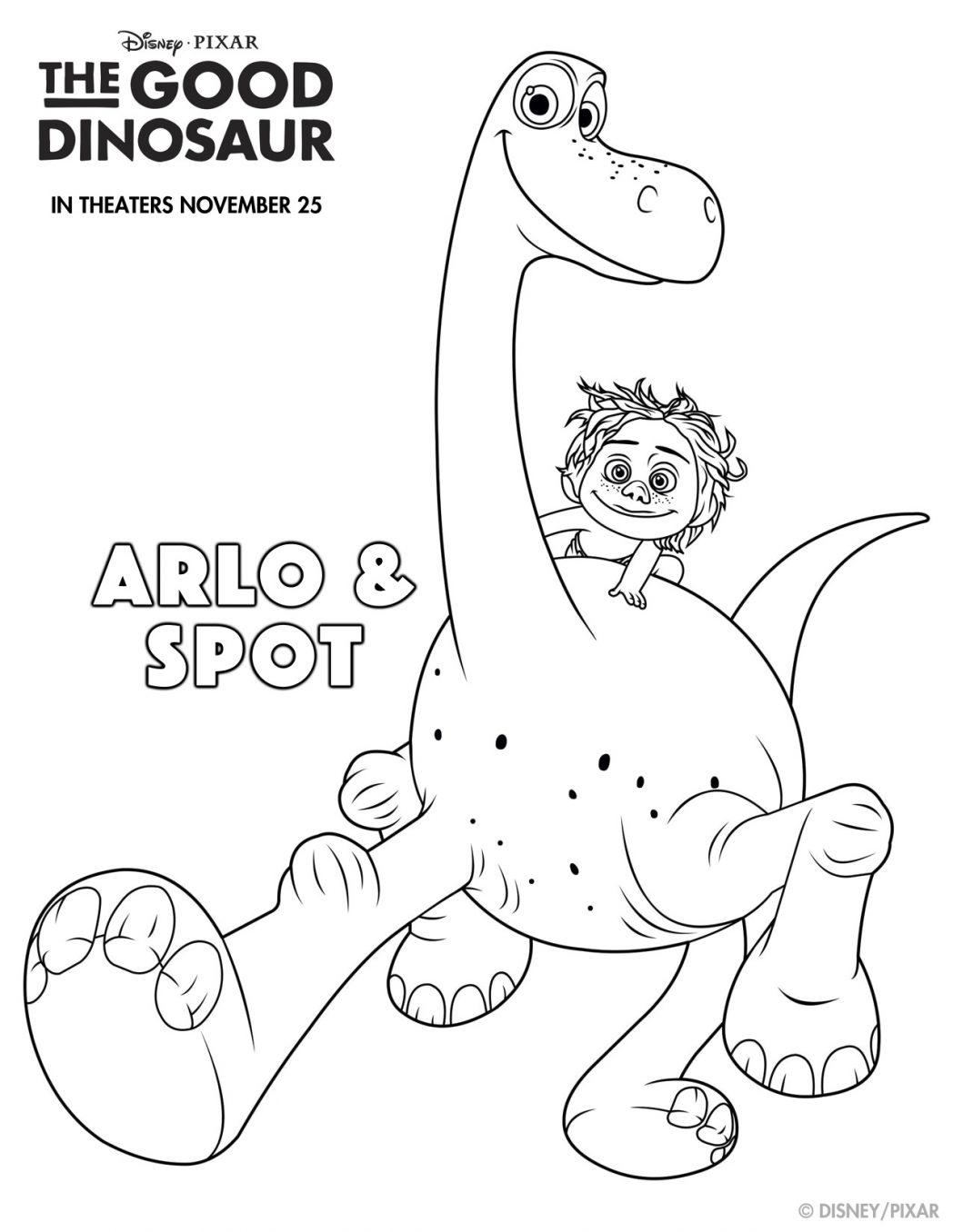 THE GOOD DINOSAUR Coloring Sheets and Fun!!