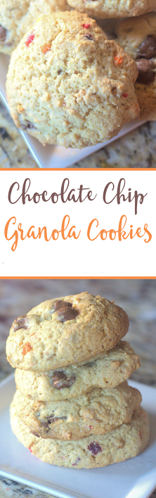 chocolate chip granola cookie dough cookies