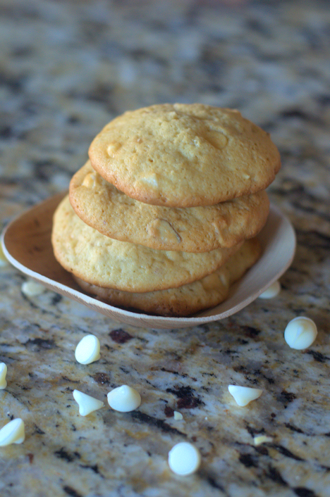 White Chocolate Chip Almond Cookies