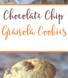 The Most Delicious Chocolate Chip Granola Cookie Dough Cookie Recipe!