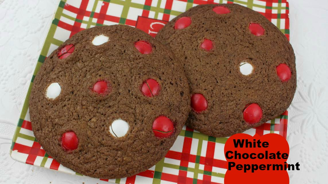 Homemade White Chocolate Peppermint M M Cookies Recipe