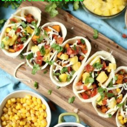 Sweet Potato Taco Boats Recipe with Old El Paso!