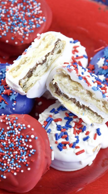 Patriotic Nutella Ritz Smores