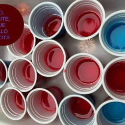 Red, White, and Blue Jello Shots Recipe!