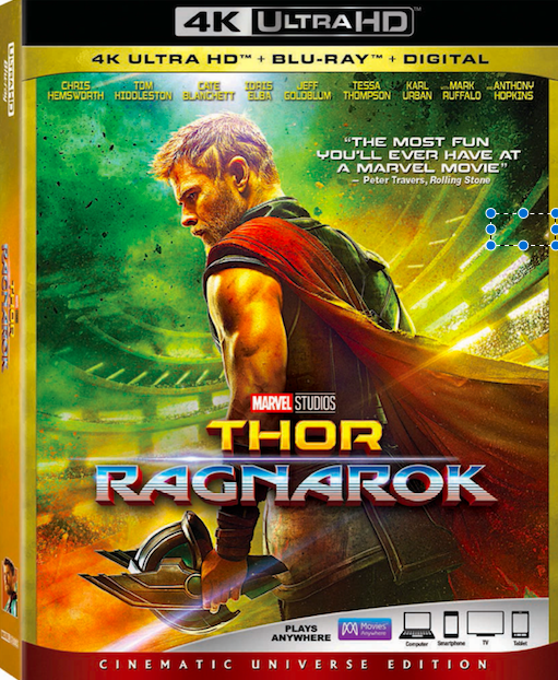 Thor: Ragnarok is now available on DVD.