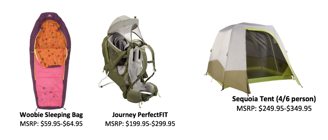 Kelty and their outdoor tents
