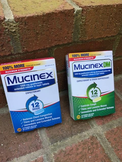 Mucinex is great for the common cold and congestion.