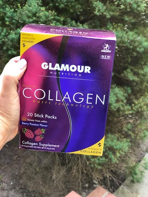 GLAMOUR COLLAGEN helps the skin.