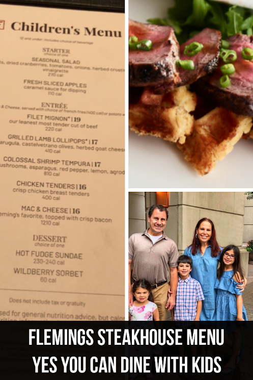 Flemings Steakhouse Family Menu