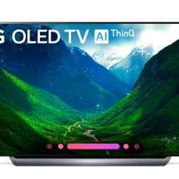 77-inch LG OLED television