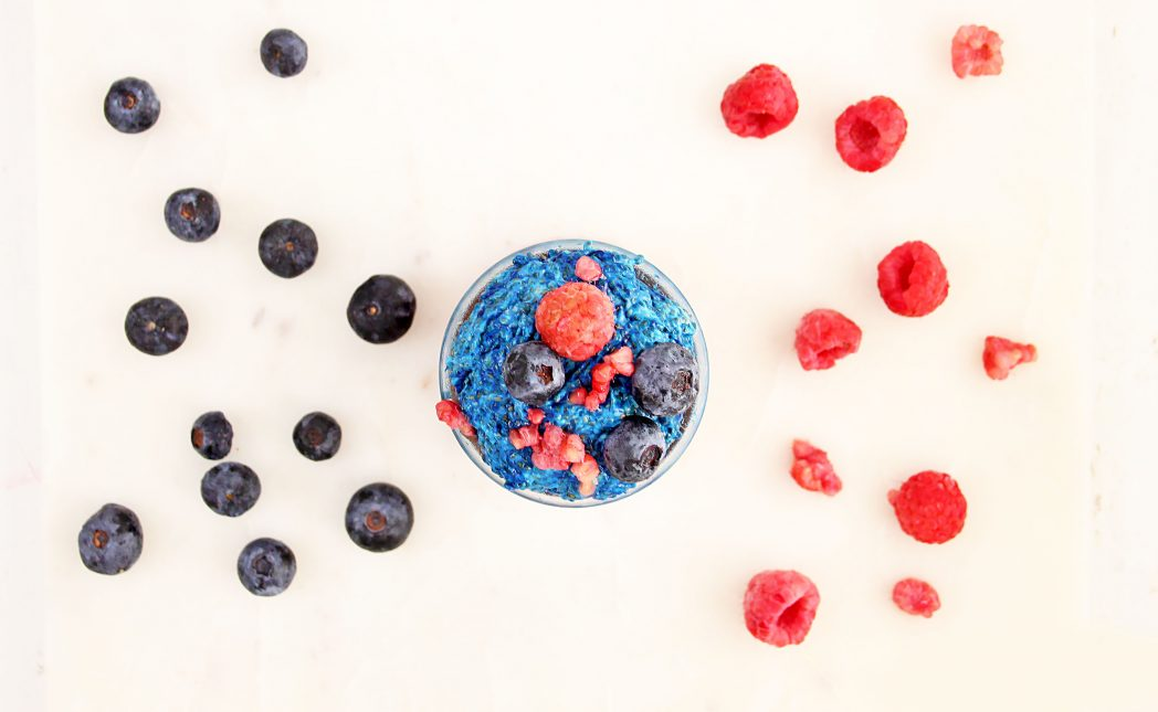 RED, WHITE AND BLUE CHIA PUDDING Recipe
