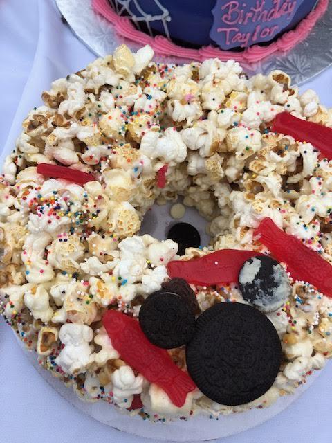 Disney popcorn cake