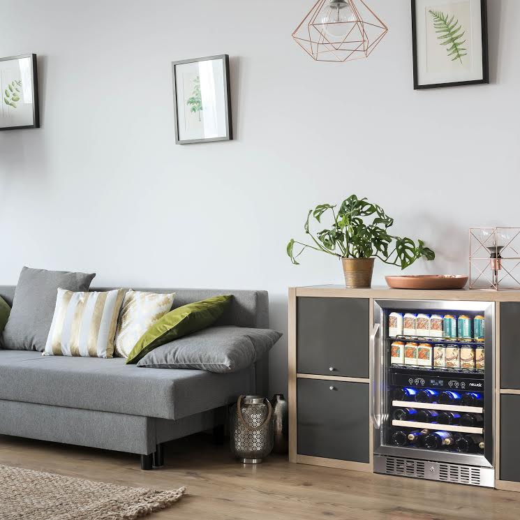"The NewAir 24"" Dual Zone Wine & Beverage Fridge"
