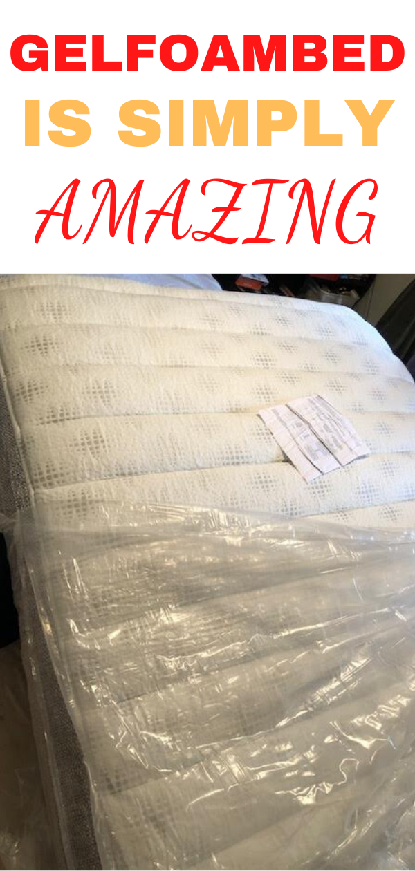 GelFoamBed- Zane is OBSESSED with his new mattress and a $300 off code!