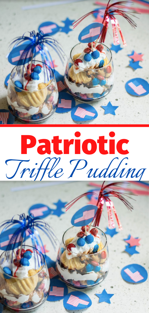 Patriotic Shortbread Trifle Recipe for the 4th of July!