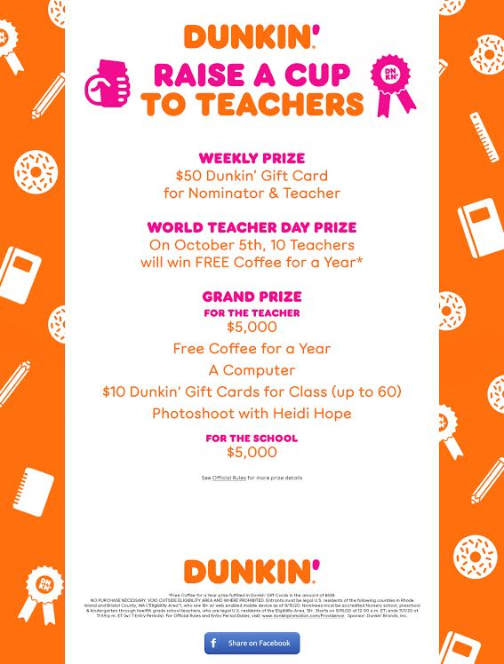 Dunkin' Raise A Cup to Teachers