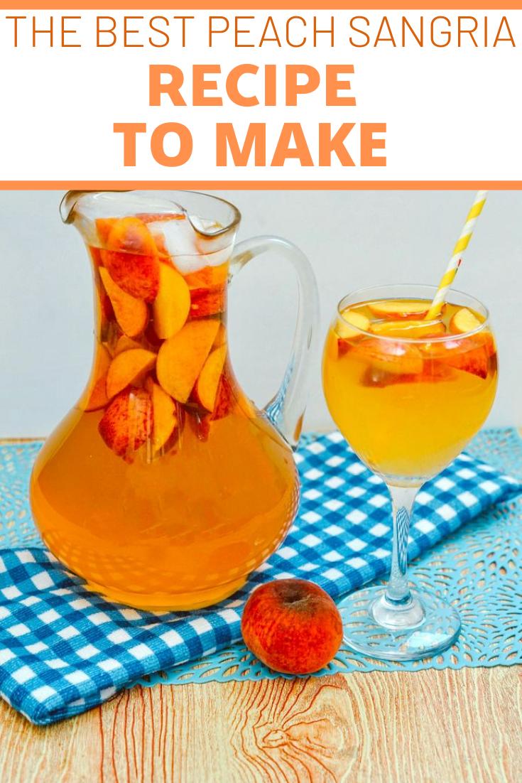 The Most Delicious Peach Sangria Recipe!