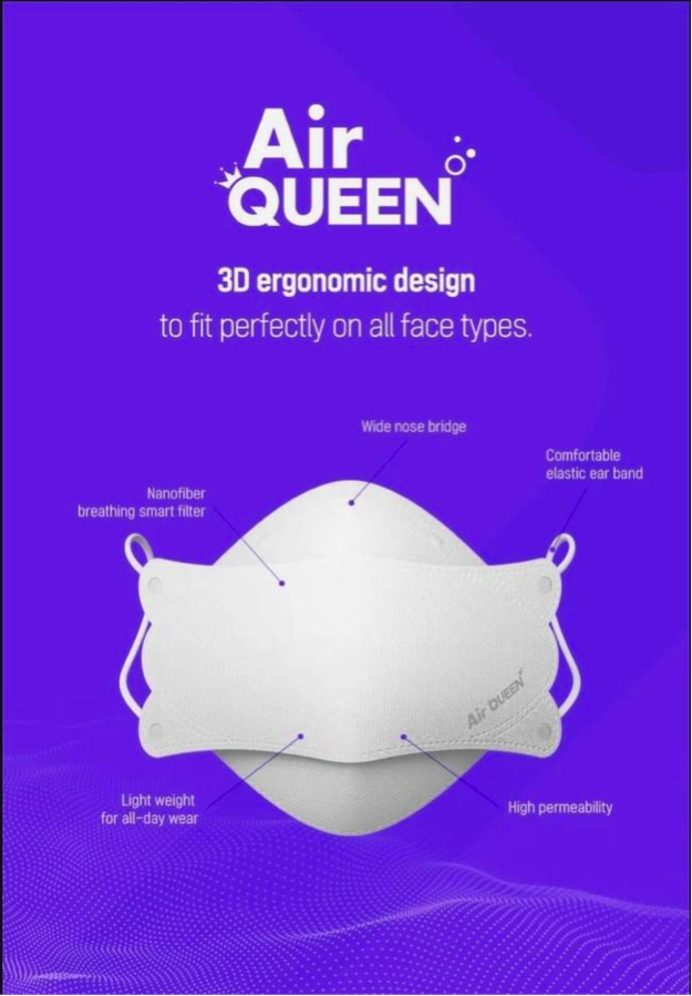 High-Tech Mask Brand AirQueen.Com Is Helping Protect Parents, Children, and First Responders From COVID-19!