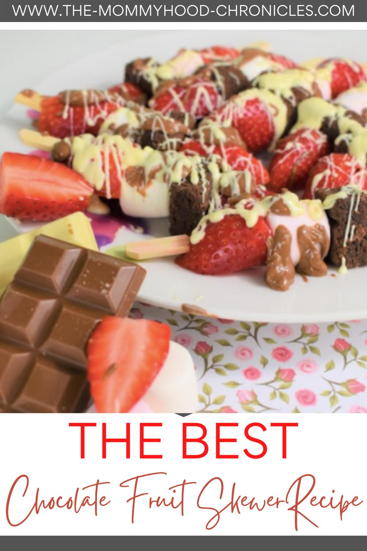 Valentine's Day Chocolate Fruit Skewers Recipe!