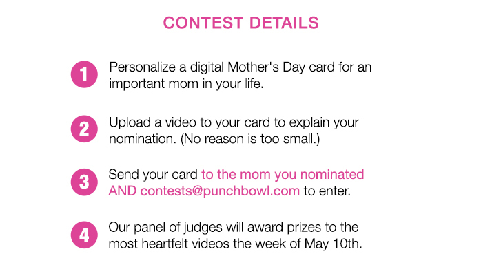 Send Punchbowl Mother's Day Cards!