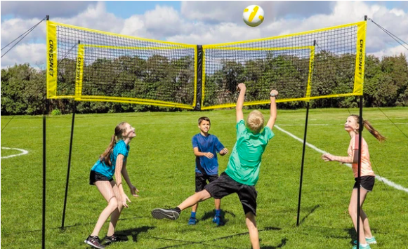 Crossnet- The First Four Square Volleyball Game